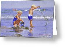 Seaweed Play Greeting Card