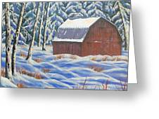 Secluded Barn Greeting Card