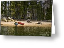 Secluded Beach Camp Greeting Card