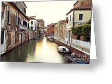 Secluded Canal In Venice Italy Greeting Card
