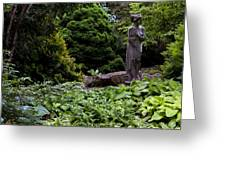 Secluded Garden Greeting Card