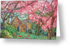 Secluded Home Greeting Card by Kendall Kessler