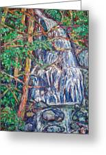Secluded Waterfall Greeting Card