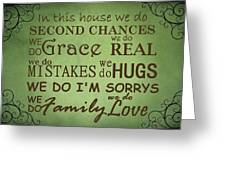 Second Chances In This House Greeting Card