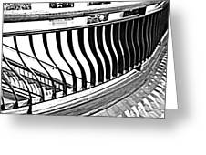Second Floor In Black And White Greeting Card