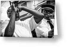 Second Line Black And White Greeting Card