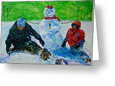 Second Snow Greeting Card