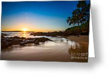 Secret Beach Sunset Greeting Card