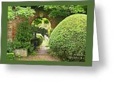 Secret English Garden Greeting Card