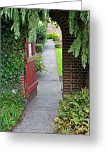 Secret Garden Door Greeting Card