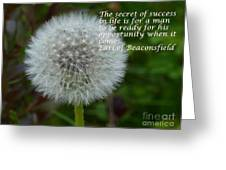 Secret Of Success Greeting Card