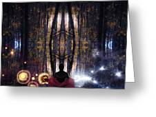 Secret Splendor Of Night Greeting Card