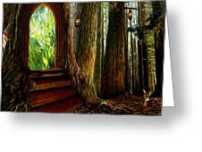 Secrets Of The Forest Greeting Card