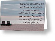 Secrets Of Yourself Greeting Card