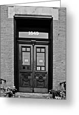 Sedgwick Street Old Town Chicago Greeting Card