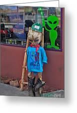 Sedona Arizona Grey Alien Greeting Card