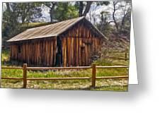 Sedona Arizona Old Barn Greeting Card