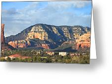 Sedona Arizona Panoramic Greeting Card by Mike McGlothlen