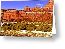Sedona Arizona Secret Mountain Wilderness Greeting Card