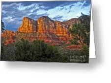 Sedona Arizona Sunset On Mountains Greeting Card