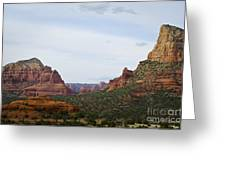 Sedona Landscape Ix Greeting Card by Dave Gordon