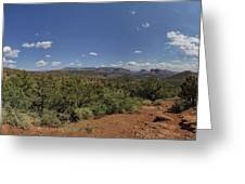 Sedona Panorama In 5 Pictures Greeting Card