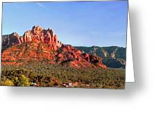 Sedona Rocky Cathedral Greeting Card