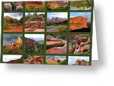 Sedona Spring Collage Greeting Card by Carol Groenen