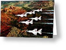 Sedona Thunderbirds Greeting Card by Benjamin Yeager