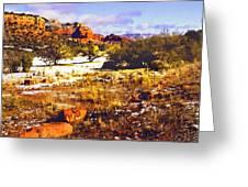 Sedona Winter Painting Greeting Card