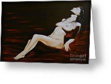 Seduction Greeting Card by Elena  Constantinescu