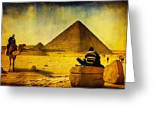 See The Pyramids - Egyptian Adventure Greeting Card by Mark E Tisdale