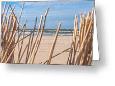 See Through On The Dutch Beach Greeting Card