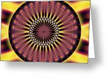 Seed Of Life Kaleidoscope Greeting Card