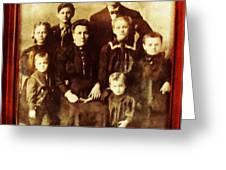 Seei Family Portrait Circa 1906 Greeting Card