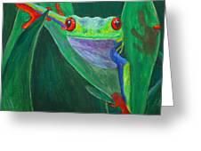 Seeing Eye To Eye Greeting Card by Terri Maddin-Miller