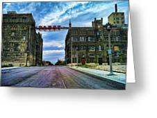 Seen Better Days Old Pabst Brewery Home Of Blue Ribbon Beer Since 1860 Now Derelict Greeting Card
