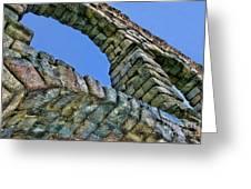 Segovia Aqueduct Arch By Diana Sainz Greeting Card