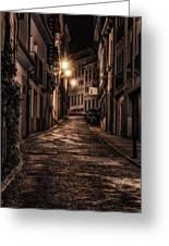 Segovia Predawn Greeting Card by Joan Carroll