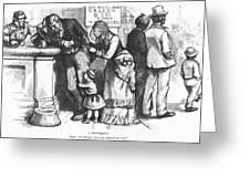 Segregated Saloon, 1875 Greeting Card
