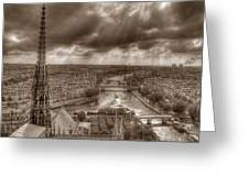 Seine From Notre Dame Greeting Card