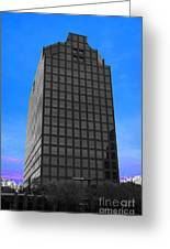 Selective Color Hi Rise Greeting Card by Bill Woodstock