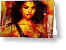 Selena Gomez 3 Greeting Card