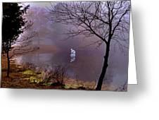 Selene Moon Goddess Fogged In Greeting Card