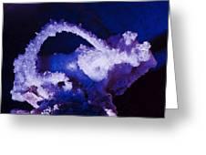 Selenite Crystal Greeting Card by Kenan Sipilovic