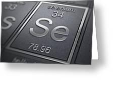 Selenium Chemical Element Greeting Card
