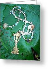 Self-esteem Necklace With Offerings Goddess Pendant Greeting Card