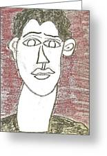 Self-portrait As A Young Man Greeting Card