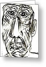 Self-portrait As An Old Man Greeting Card