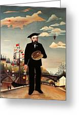 Self Portrait Greeting Card by Henri Rousseau